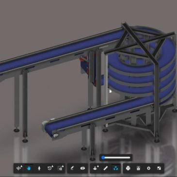 Check out this 3D model of our Spiral Decline Conveyor!!!